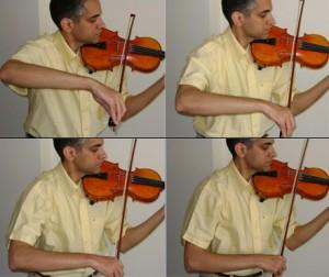 زاویه صحیح بازو نسبت به تنه در چهار سیم ویولون